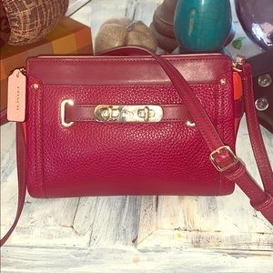 Coach red swagger crossbody